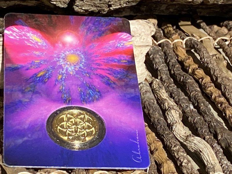 Carte & Médaille Uriel Lumière de dieu Image