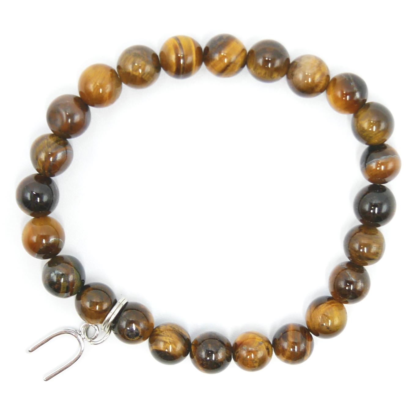 Bracelet Œil de Tigre - Fer à Cheval Image