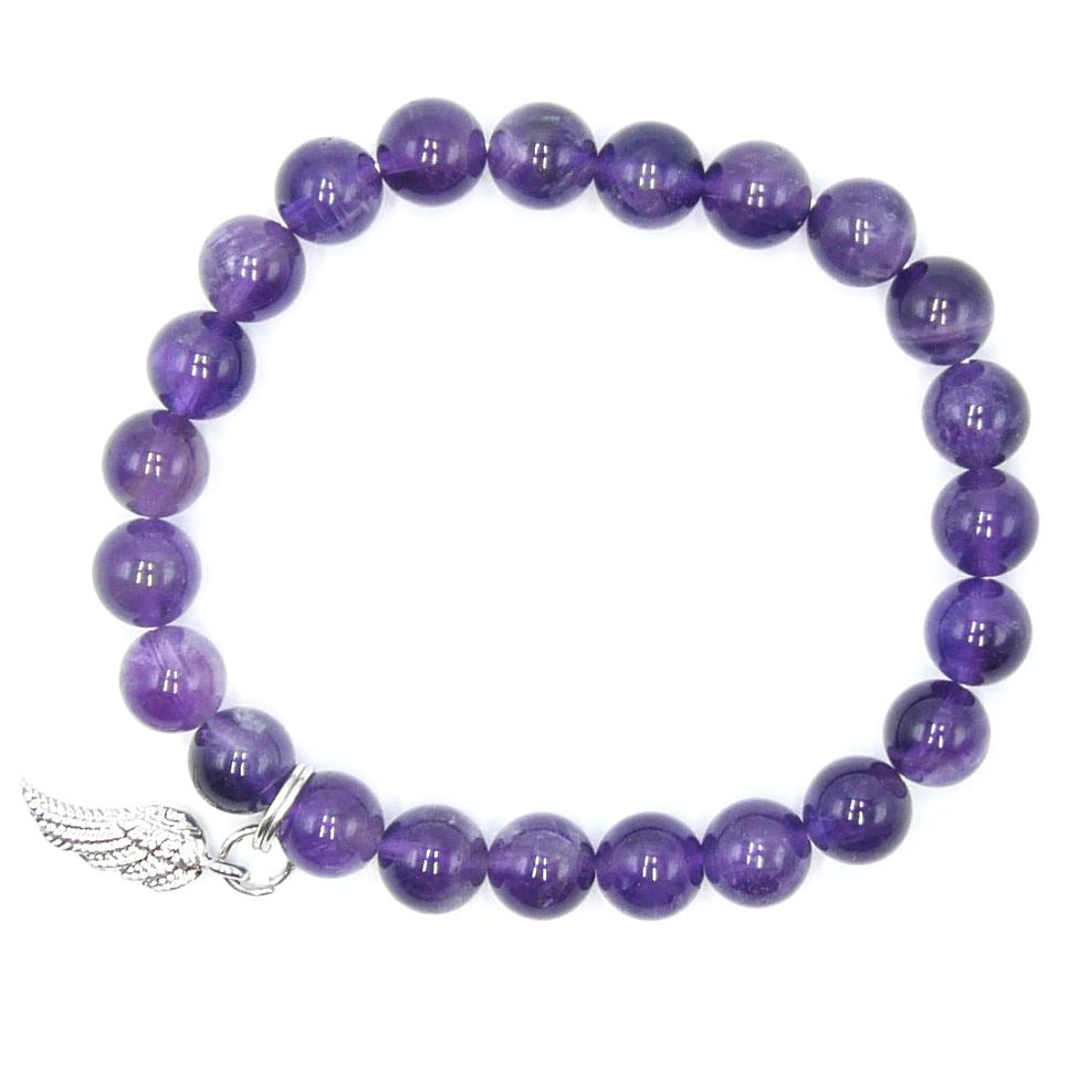 Bracelet Améthyste - Aile d