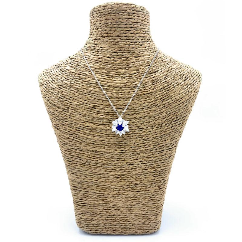 Collier Fleur de Lotus - Lapis Lazuli Image