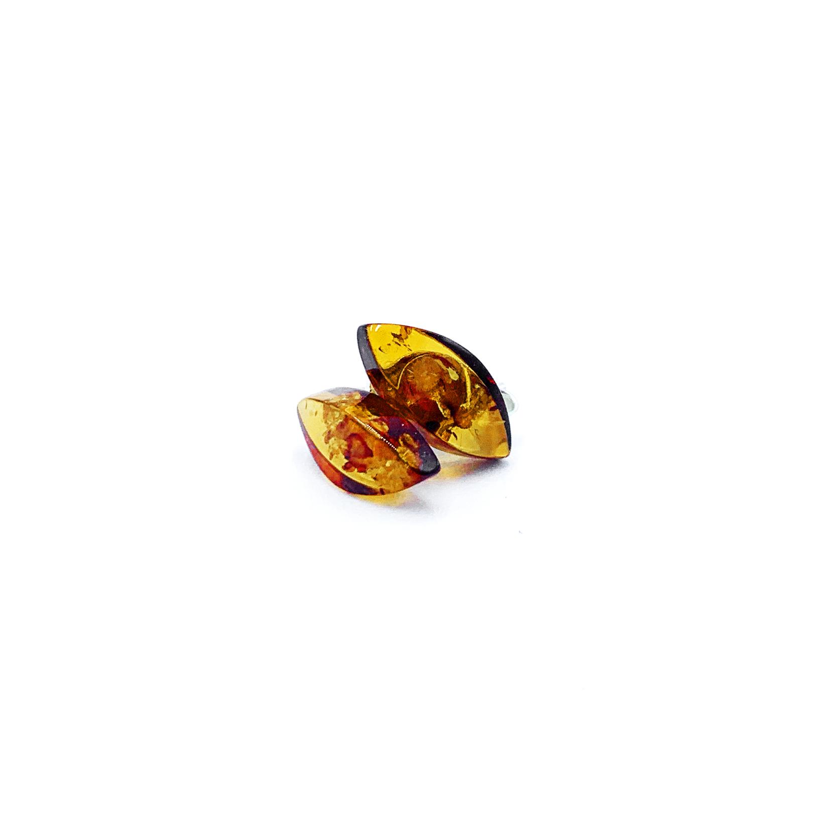Boucles d'Oreilles - Ambre Brun & Argent 925 Image