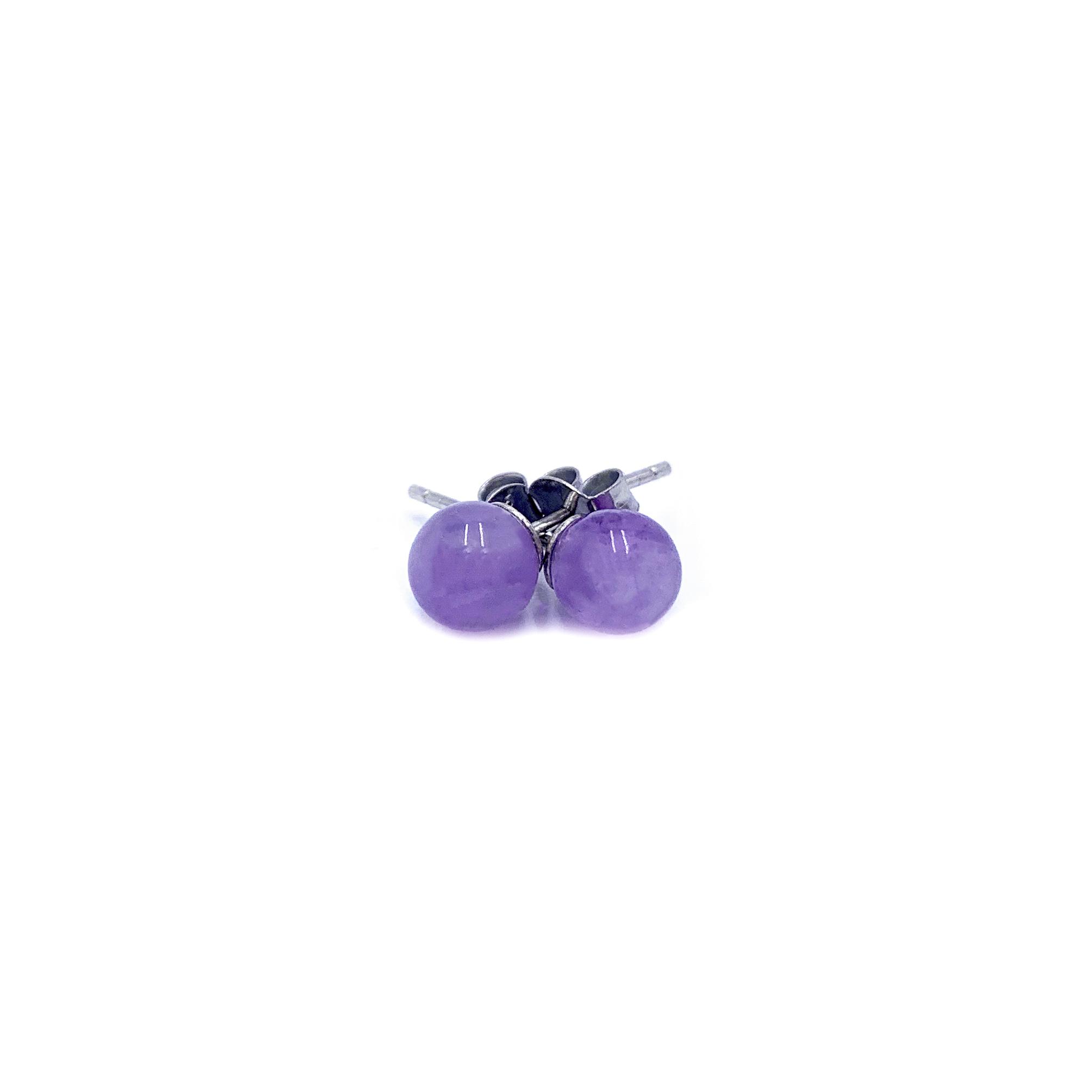 Boucles d'Oreilles - Perles d'Améthyste & Argent 925 Image