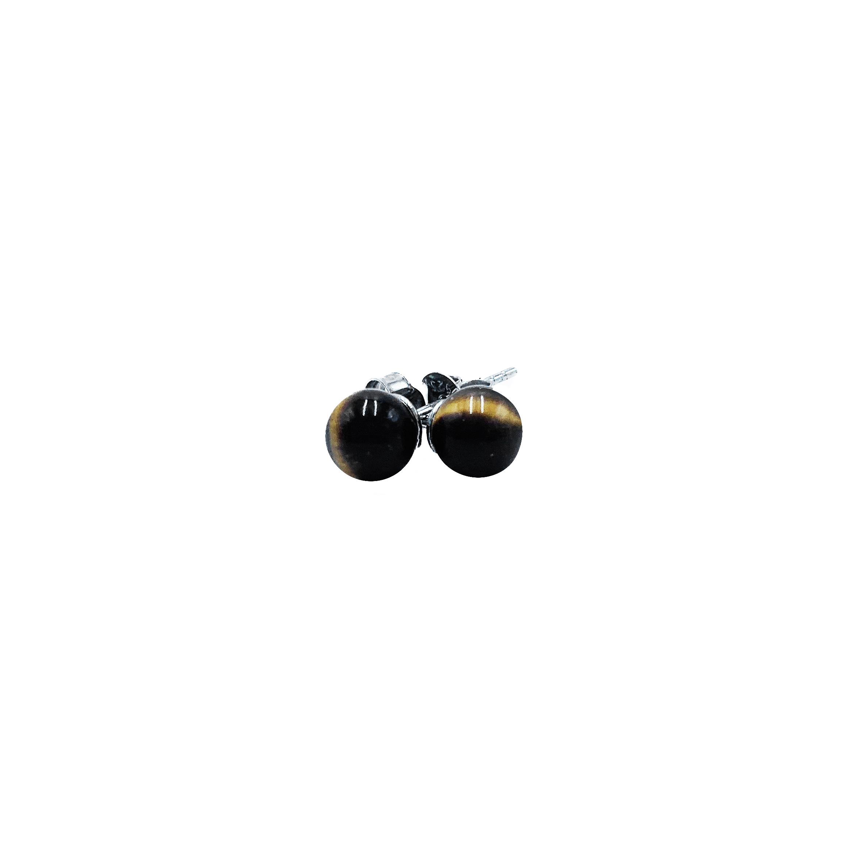 Boucles d'Oreilles - Perles d'Œil de Tigre & Argent 925 Image