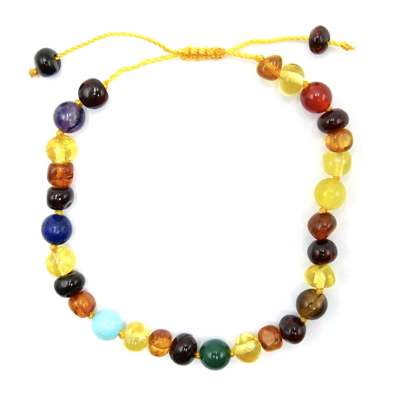 Bracelet Réglable - Ambre et Chakras Image