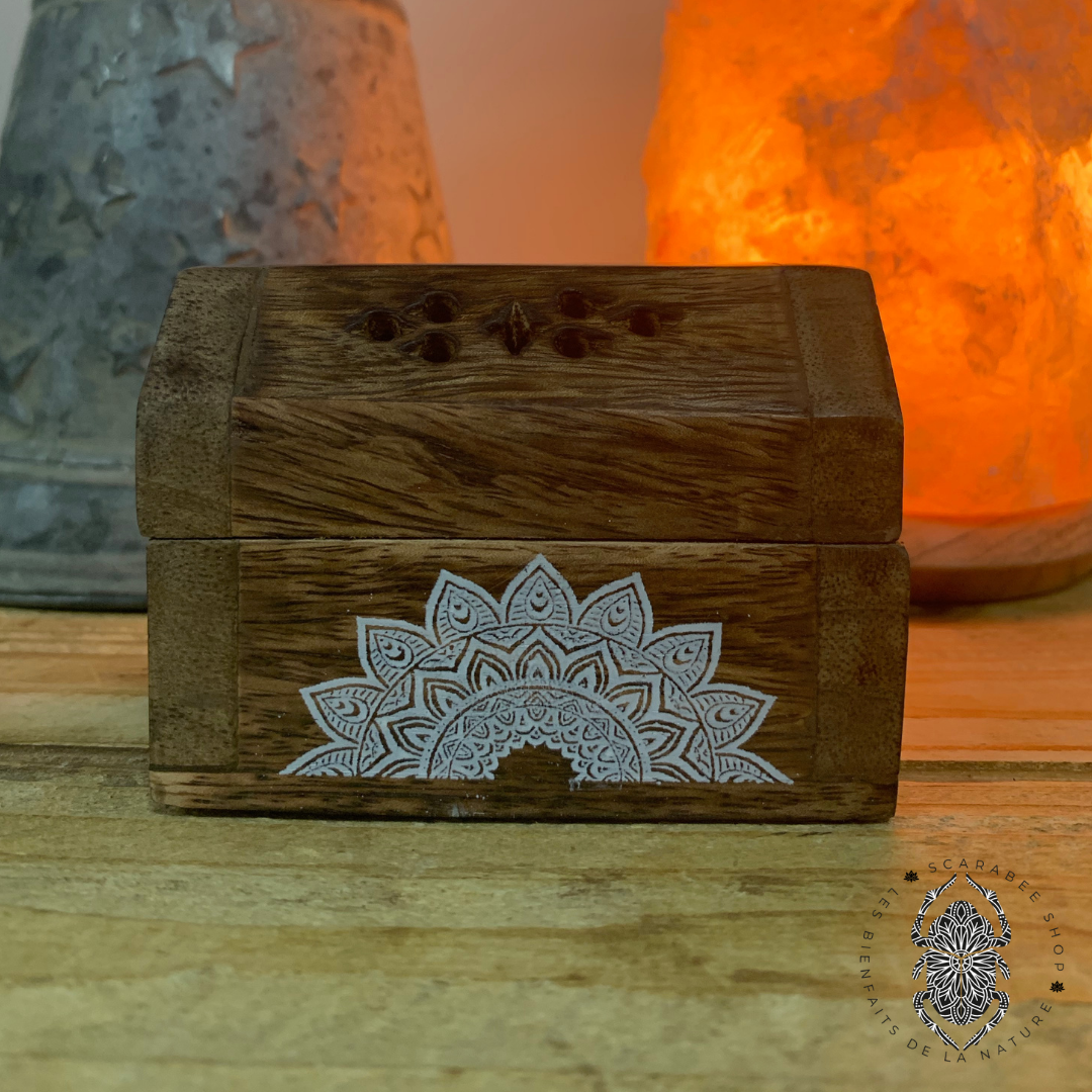 Porte encens en cônes - Boîte en bois Image